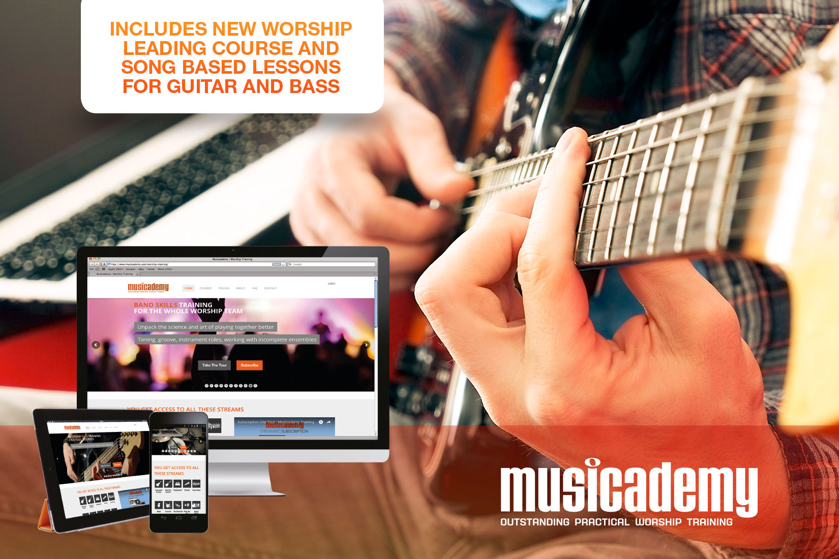 Affordable online worship music courses for Christian musicians